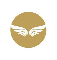 wings logo design vector image