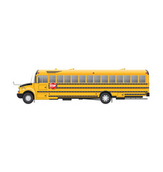 yellow long classic school bus vector image
