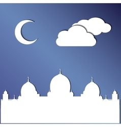Background template of Eid Al Adha mubarak vector image