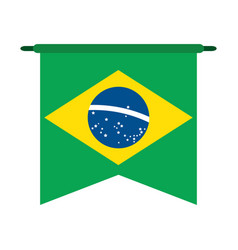 brazilian flag icon image vector image