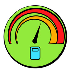 car fuel gauge icon cartoon vector image vector image