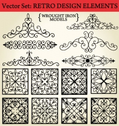 retro design elements vector image vector image