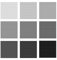 set backgrounds horizontal lines and stripes with vector image vector image