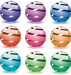3d shiny globes vector image