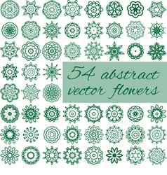 54 abstract flowers vector image