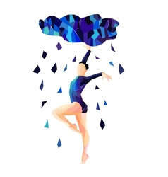 Abstract image of a dancing girl vector image