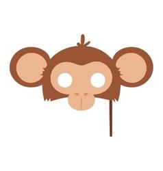Cartoon animal party mask vector image