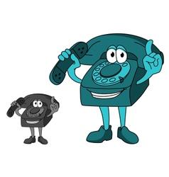 Cartoon telephone vector image
