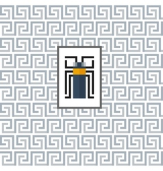 Geometric pattern with a beetle in the center vector image