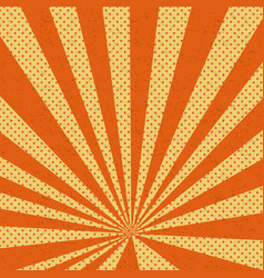 old paper comic book orange background vector image