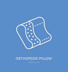 Orthopedic pillow icon line logo flat sign for vector