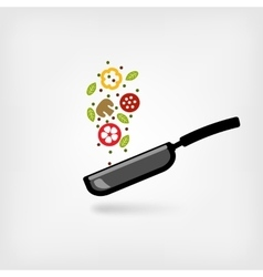 pan with food vector image