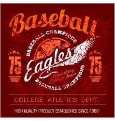Vintage baseball logo emblem badge and design vector image
