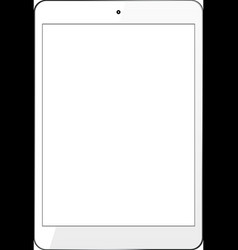 White Tablet PC vector image vector image