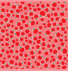 apples red seamless pattern background vector image vector image