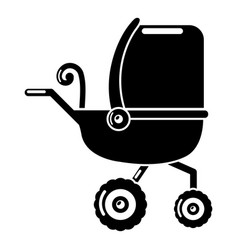 baby carriage tricycles icon simple black style vector image