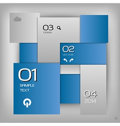 business squares template blue with text vector image vector image