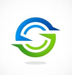 circle round shape abstract logo vector image