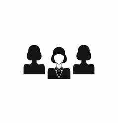 Recruitment icon in simple style vector image vector image
