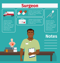 surgeon and medical equipment icons vector image vector image