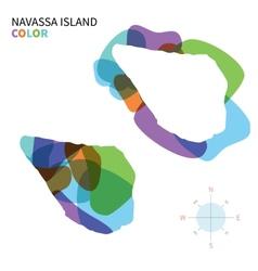 Abstract color map of Navassa Island vector image