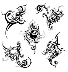 Floral and tribal abstractions vector image