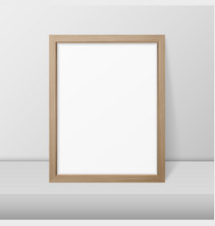 3d realistic a4 brown wooden simple modern vector image