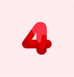 4 blood font template design vector