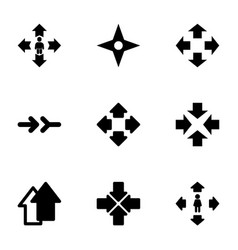 9 orientation icons vector image