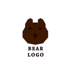 abstract bear logo vector image