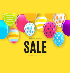 abstract party sale background vector image