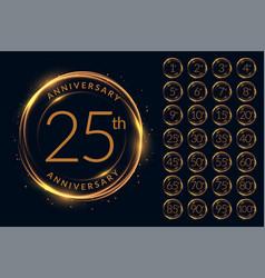 Anniversary logotype design big set vector
