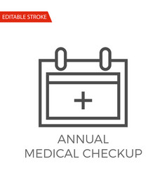Annual medical checkup icon vector
