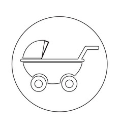 Baby carriages icon vector