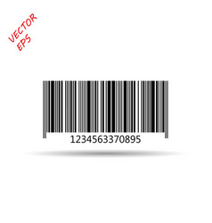 bar code isolated on a light background vector image