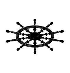black helm on white vector image