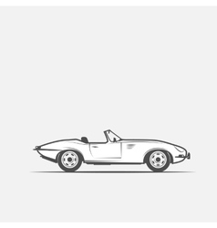 Car convertible in black and white vector