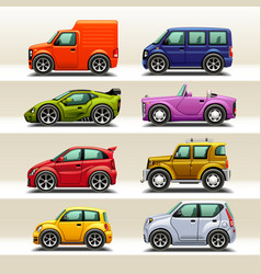 car icon set-2 vector image