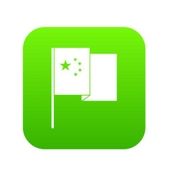 china flag icon digital green vector image