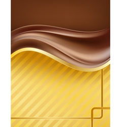 Chocolate creamy waves vector