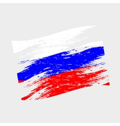 color Russia national flag grunge style eps10 vector image
