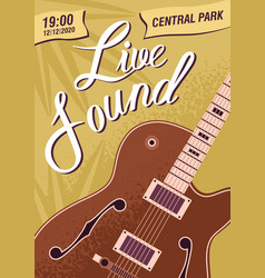 colorful music live sound festival poster template vector image