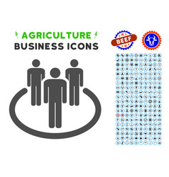 Community icon with agriculture set vector