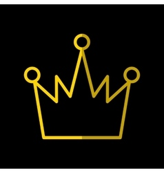 Crown Icon In Flat Style vector image