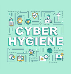 Cybersecurity hygiene word concepts banner vector