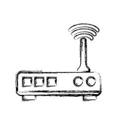Figure router digital wifi technology network vector