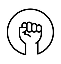 Fist up as protest symbol logo template vector