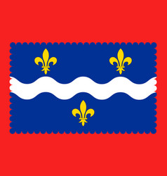Flag of indre in centre-val de loire france vector