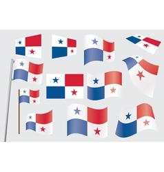 Flag panama vector