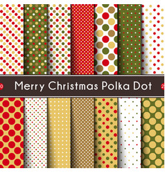 fourteen merry christmas polka dot seamless vector image